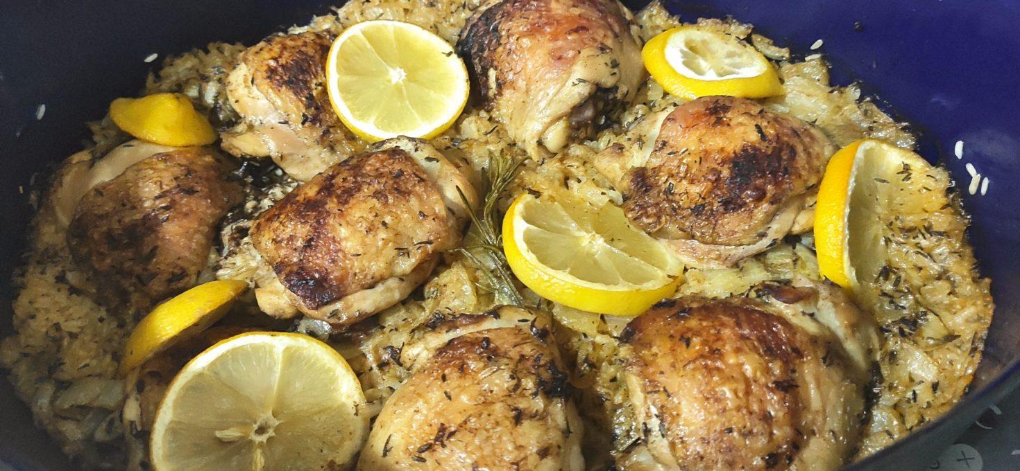 Citronové kuře s rýží v 1 hrnci