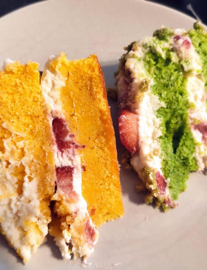 Dva dorty se zeleninou